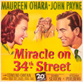 "Movie Posters:Comedy, Miracle on 34th Street (20th Century Fox, 1947). Six Sheet (81"" X81"").. ..."