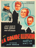 "Movie Posters:War, La Grande Illusion (R.A.C., 1937). French Grande (47"" X 63"").. ..."