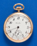 Timepieces:Pocket (post 1900), Hamilton 17 Jewel, Grade 974 Pocket Watch. ...