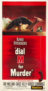 """Dial M For Murder (Warner Brothers, 1954). Three Sheet (41"""" X 81"""")"""