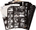 Movie/TV Memorabilia:Photos, Irv Steinberg Original Contact Sheets and CorrespondingNegatives....