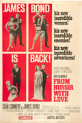 "Movie Posters:James Bond, From Russia with Love (United Artists, 1964). Poster (40"" X 60"")Style B.. ..."