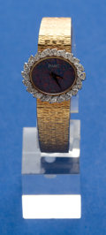 Timepieces:Wristwatch, Piaget, Ladies Gold & Diamond Wristwatch. ...
