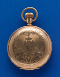 Timepieces:Pocket (post 1900), Columbus 6 Size Gold Filled Hunters Case. ...