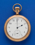 Timepieces:Pocket (post 1900), Elgin Sharp 16 Size Open Face Pocket Watch. ...