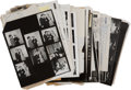 Movie/TV Memorabilia:Photos, Irv Steinberg Original Proof Sheets and Corresponding Negatives....