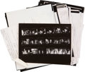 Movie/TV Memorabilia:Photos, Irv Steinberg Original Proof Sheets with CorrespondingNegatives....