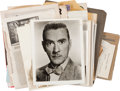 Movie/TV Memorabilia:Autographs and Signed Items, Clifton Webb's Headshots and Press Clippings....