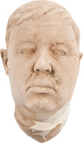 Movie/TV Memorabilia:Memorabilia, Charles Laughton Life Mask, Natural Finish....