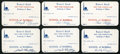 Baseball Collectibles:Others, NY World's Fair Academy of Sport Instructor Signed Cards Lot of 6 -Baseball....