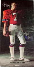 "Football Collectibles:Photos, Circa Late 1980's John Elway Huge Signed ""Mizuno"" Advertising Broadside...."