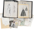 Movie/TV Memorabilia:Original Art, Charles LeMaire's Portfolio and Sketch Books.... (Total: 3 )