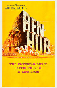 "Ben-Hur (MGM, 1959). One Sheet (27"" X 42"") Advance"