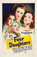 "Movie Posters:Romance, Four Daughters (Warner Brothers, 1938). One Sheet (27"" X 41"").. ..."