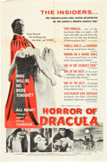 "Movie Posters:Horror, Horror of Dracula (Universal International, 1958). Review Style OneSheet (27"" X 41"").. ..."