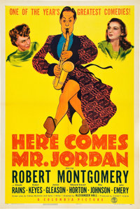 """Here Comes Mr. Jordan (Columbia, 1941). One Sheet (27"""" X 41"""") Style A"""