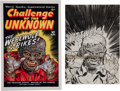 Original Comic Art:Miscellaneous, Warren Kremer Challenge of the Unknown Cover PreliminarySketch Original Art (Harvey, c. 1950).... (Total: 2 Items)
