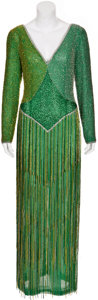 Movie/TV Memorabilia:Costumes, Randy McLaughlin of Jeran Collection - Green Evening Gown....