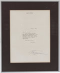 Movie/TV Memorabilia:Autographs and Signed Items, Martin Scorsese Signed Letter....