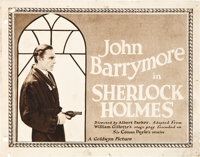 "Sherlock Holmes (Goldwyn, 1922). Title Lobby Card and Lobby Card (11"" X 14""). ... (Total: 2 Items)"