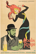 "Movie Posters:Drama, Moulin Rouge (United Artists, 1957). Polish One Sheet (23"" X 33"")A1 Vertical Style.. ..."