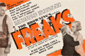 "Movie Posters:Horror, Freaks (MGM, 1932). Herald (8.75"" X 5.5"").. ..."