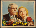 "Movie Posters:Crime, Night Key (Universal, 1937). Lobby Card (11"" X 14""). Crime.. ..."