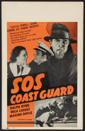 "Movie Posters:Adventure, S.O.S. Coast Guard (Republic, 1937). Window Card (14"" X 22"").Adventure.. ..."