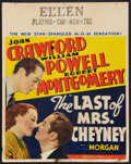 "Movie Posters:Crime, The Last of Mrs. Cheyney (MGM, 1937). Jumbo Window Card (22"" X28""). Crime.. ..."