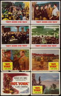 """Movie Posters:War, Sergeant York Lot (Warner Brothers, R-1958). Lobby Cards (8) (11"""" X14""""). War.. ... (Total: 8 Items)"""