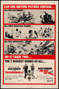 "Movie Posters:James Bond, Thunderball/You Only Live Twice Combo Lot (United Artists, 1970).One Sheet (27"" X 41"") and Lobby Cards (2) (11"" X 14""). Jam...(Total: 3 Items)"