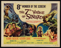 """The 7th Voyage of Sinbad Lot (Columbia, 1958). Title Lobby Card (11"""" X 14""""), and One Sheet (27"""" X 47""""..."""