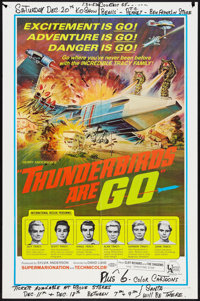 """Thunderbirds Are Go (United Artists, 1967). One Sheet (27"""" X 41""""). Science Fiction"""