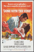 "Movie Posters:Academy Award Winners, Gone with the Wind (MGM, R-1968). One Sheet (27"" X 41"") and Pressbook (12"" X 17""). Academy Award Winners.. ... (Total: 2 Items)"