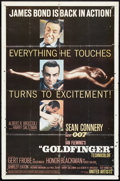 "Movie Posters:James Bond, Goldfinger (United Artists, 1964). One Sheet (27"" X 41""). James Bond.. ..."