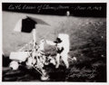 Autographs:Celebrities, Charles Conrad: Signed Apollo 12 Large Limited Edition B&WPhoto....