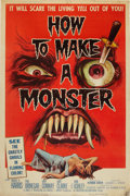 """Movie Posters:Horror, How to Make a Monster (American International, 1958). Poster (40"""" X 60"""").. ..."""