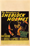 "Movie Posters:Mystery, The Adventures of Sherlock Holmes (20th Century Fox, 1939). WindowCard (14"" X 22"").. ..."