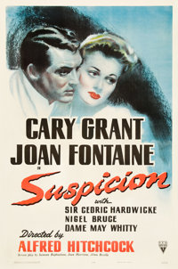 "Suspicion (RKO, 1941). One Sheet (27"" X 41"")"