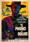 "Movie Posters:Western, A Fistful of Dollars (Unidis, R-1968). Italian 4 - Foglio (55"" X78"").. ..."