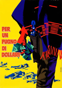 "A Fistful of Dollars (Unidis, R-1968). Original Tempera Painting by Michelangelo Papuzza (13"" X 18"")"