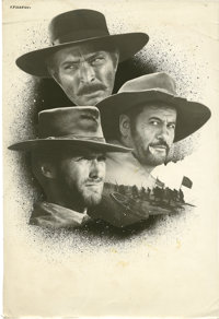 The Good, the Bad and the Ugly (PEA, 1966). Two Pieces of Original Promotional Artwork. ... (Total: 3 Items)