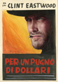 "Movie Posters:Western, A Fistful of Dollars (Unidis, 1964). Color Poster Mock-up (5.5"" X 8) and Photos (5) (7"" X 9.25 to 9.5"" X 12""). ... (Total: 6 Item)"