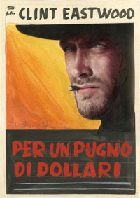 "A Fistful of Dollars (Unidis, 1964). Color Poster Mock-up (5.5"" X 8) and Photos (5) (7"" X 9.25 to 9.5"" X..."