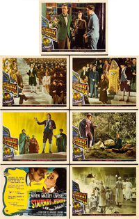 "Stairway to Heaven (Universal International, 1946). Title Lobby Card and Lobby Cards (6) (11"" X 14""). ... (Tot..."