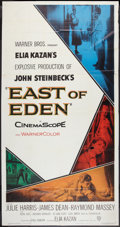 "Movie Posters:Drama, East of Eden (Warner Brothers, 1955). Three Sheet (41"" X 78.5"").Drama.. ..."