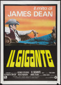 "Movie Posters:Drama, Giant (Warner Brothers, R-1980s). Italian 2 - Folio (39"" X 55"").Drama.. ..."