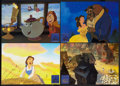 "Movie Posters:Animated, Beauty and the Beast (Buena Vista, 1991). German Lobby Card Set of4 (11.5"" X 16.5""). Animated.. ... (Total: 4 Items)"