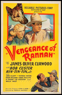 """Vengeance of Rannah (Reliable, 1936). One Sheet (27"""" X 41""""). Western"""