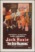 "Movie Posters:Western, The Red Warning (Universal, 1923). One Sheet (27"" X 41""). Western....."